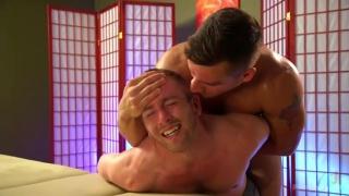 masseur Jordan Boss puts an end to Scott Riley's wandering hands