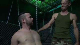 Brett Bradley bare fucks Alex Mason in a sling