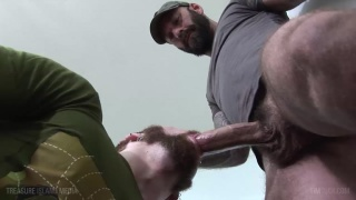 bearded cocksucker blows hung bearded man