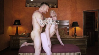 swedish muscle daddy screws blond lad