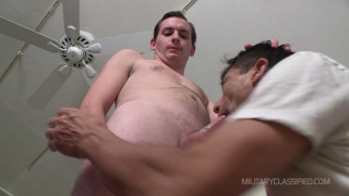 Straighty riding gay masseur cock