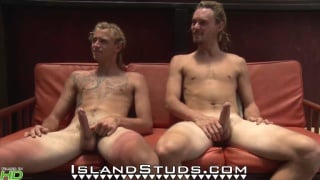 Hippy Farmer Bros in their first side by side jerk-off