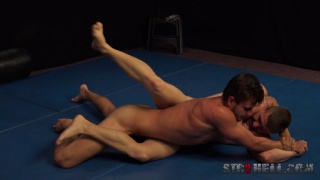 hot straight guys paired in a submission wrestling match