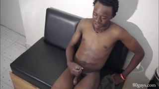 naked african guy masturbating
