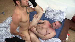 young stud fucks his daddy's older ass