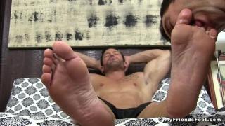 worshiping a big man's size 12 socks and feet