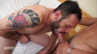 sexy young latino fucks older bearded man