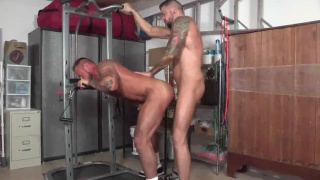 muscle bottom loves this man's cock and begs for more