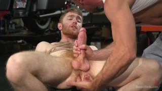 hot biker mercilessly fucks a captive ginger