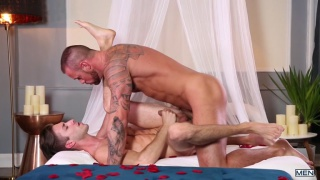 Michael Roman and Ian Frost work each other's cocks