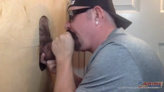 glory hole cocksucker gets fucked too