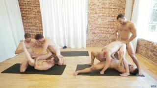 orgy in the yoga studio