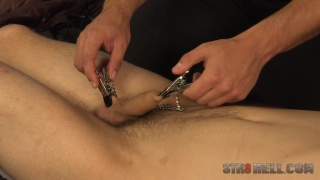czech guy gets his foreskin clamped