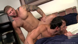 Colby Jansen & Rego Bello in flip-fuck scene