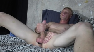 blond russian guy in his porn audition