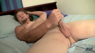 blond guy with chin scruff fuck his fleshjack
