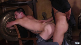 guy puts on a strip show and ends up getting fucked