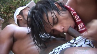 latino guy find secluded spot on island to fuck