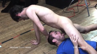 throat fucking a cocksucker on the floor