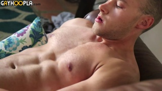 Buff Blond stud Kyle Holmes Fucks The Couch