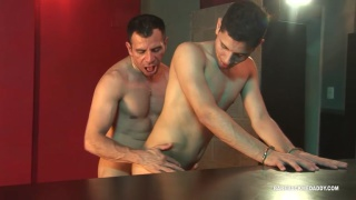 daddy fucks latino bartender at his bar