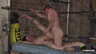 guy arrives to find a twink bound and waiting for him