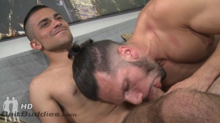 gay latin guy blows a straight guy