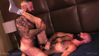 muscle bear fucks a hairy daddy's hot ass