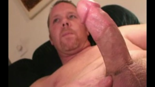 chubby redneck daddy strokes his cock