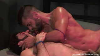 bearded european hunk fucks bearded american stud