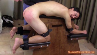 strapped to the spanking bench for a harsh session