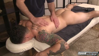 straight guy's first erotic rub-down from a dude