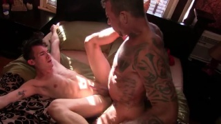 ray dalton fills his boy's cum-hungry hole