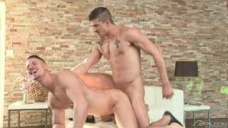 muscled pool boy fucks home owner with his huge cock