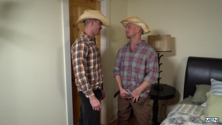 country hicks in plaid shirts fuck in the bedroom