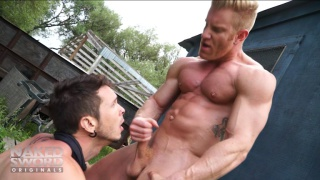 Johnny V gives Gabriel Alanzo a cum facial