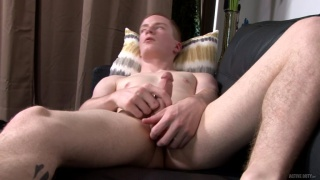 red dixon loves showing off and playing with his hard dick