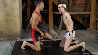 euro boys in submission wrestling match