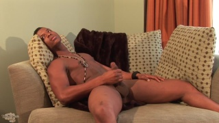 marcus major strokes his big black prick