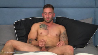 straight muscle boy bronson strokes his dick