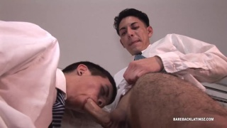 horny college boys fuck in school uniforms