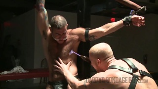 slave boy roughs up his daddy with electric toy