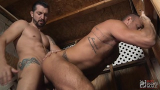 horny muscle bottom gets fucked by muscle stud
