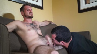 Sexy Stud Gets His Cock Gorged On