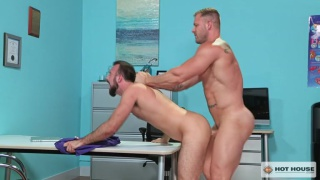 sexy hairy guy gets fucked by his hung doctor in exam room