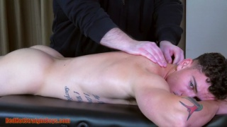 straight boy gets massaged from head to toe