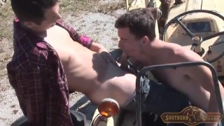 farm boys fuck on a tractor