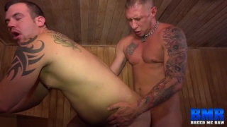 guys raw fucking in the gym sauna