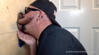daddy devours dick at his glory hole