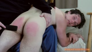 straight boy's first time with a man is for a spanking